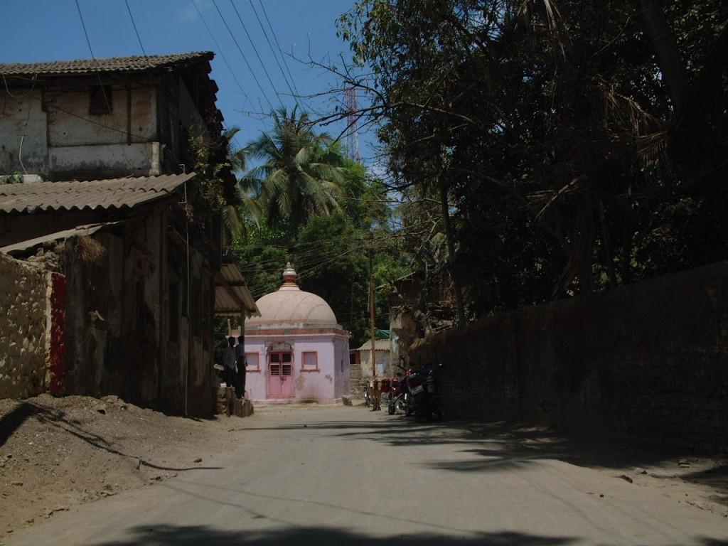 Pink Temple in Tarapur, Maharashtra