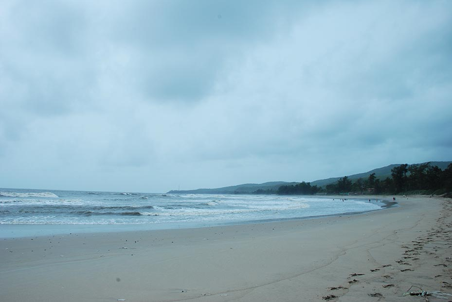 The beach at Kashid is quiet nice, and has fine white sand.