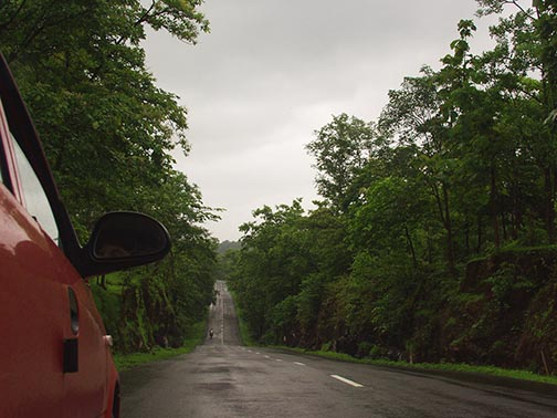 Its a beautiful drive along undulating drives, but only after about one and a half hours from Mumbai.