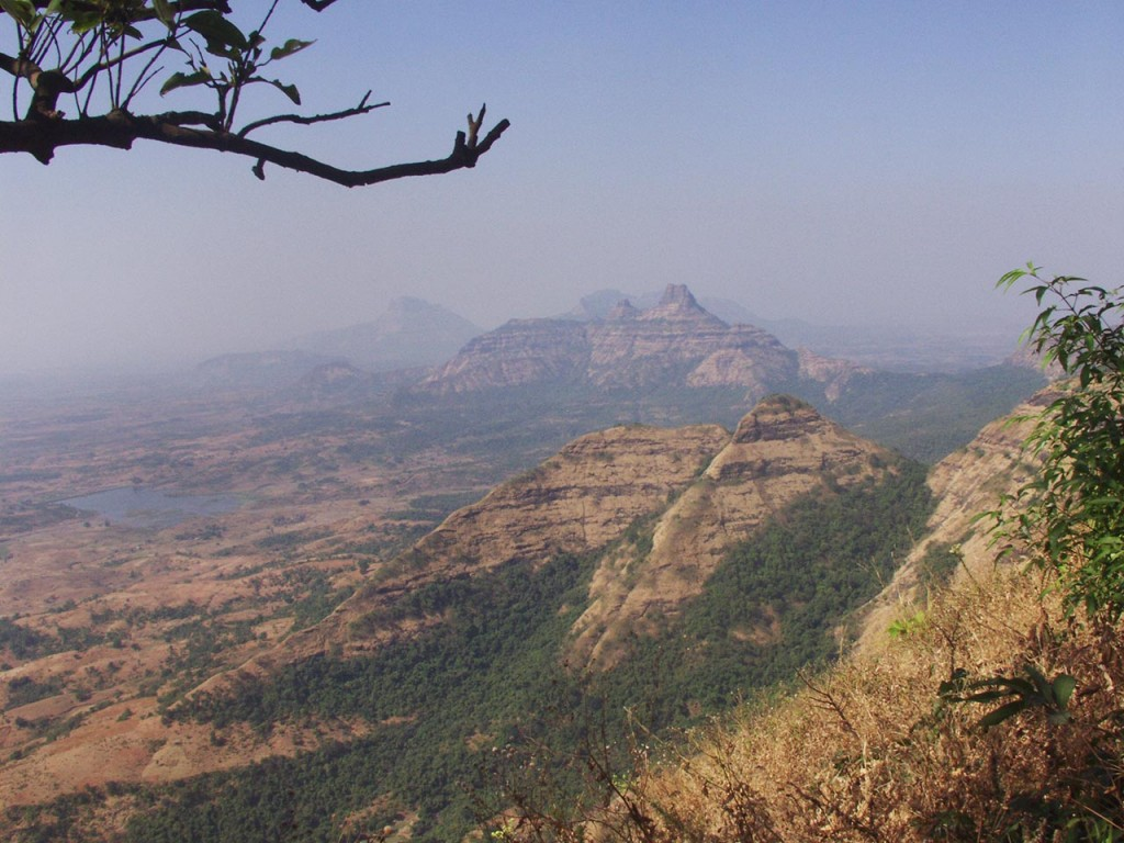 Views from Matheran in the summer.