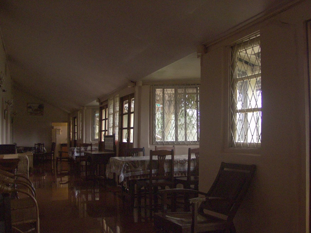 The verandah at Prospect Hotel