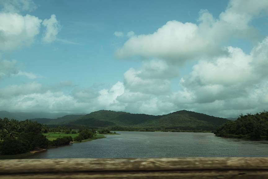 Driving through Honavar.