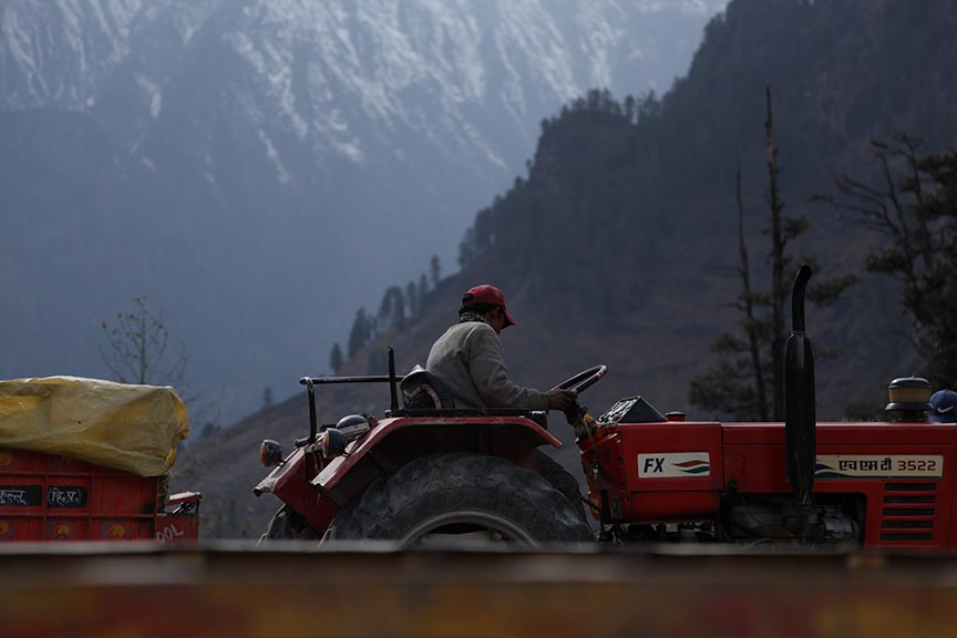 Tractor in Manali