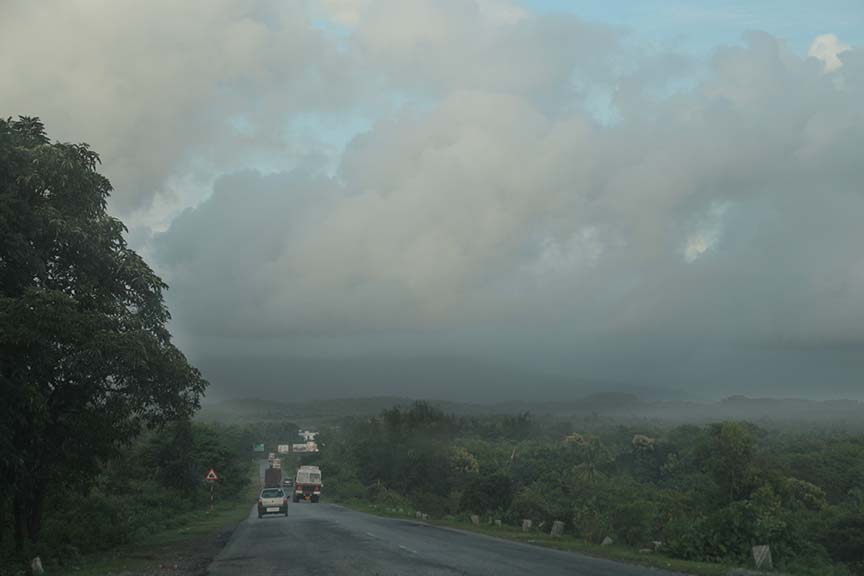 Highway in the monsoons