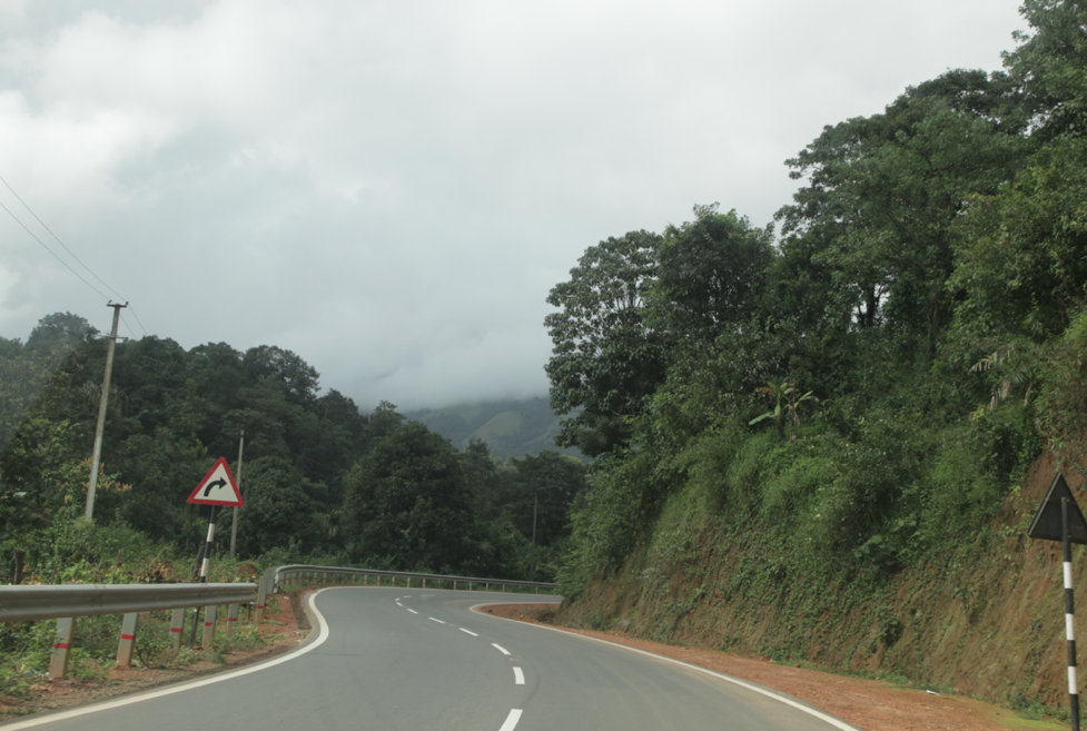 Driving up the Ghats in Coorg district