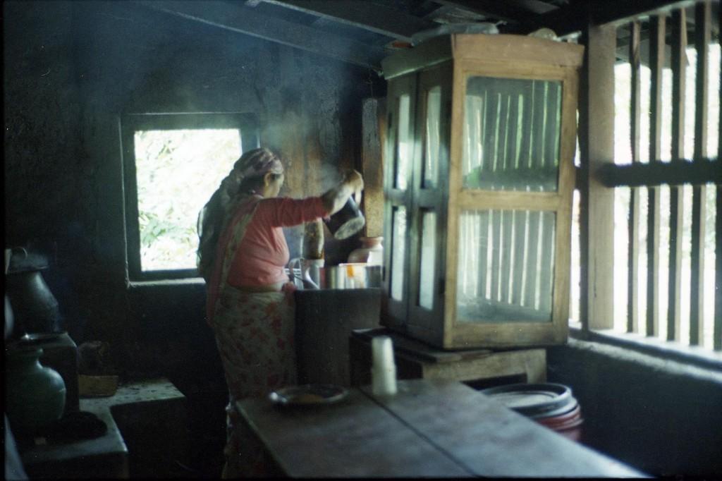 Woman in chai tea shop