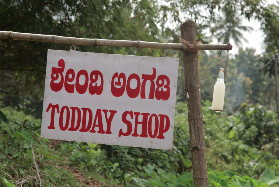 Funny signage for a Toddy Shop