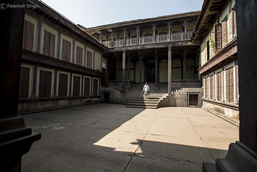 Bhor Rajwada courtyard
