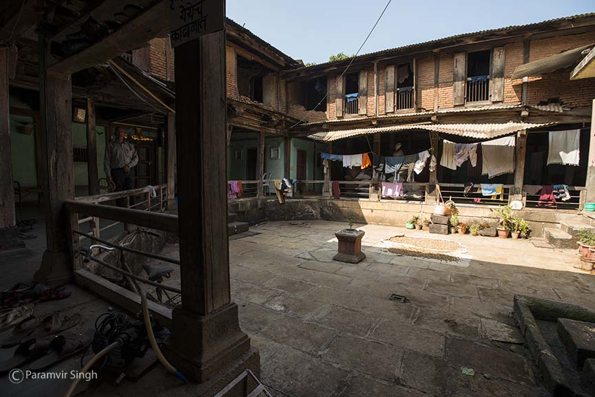 Courtyard of a house near Bhor Rajwada