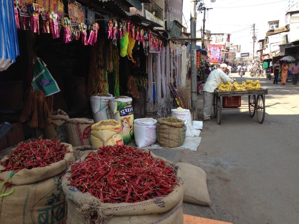 The spice market near Bhor Rajwada