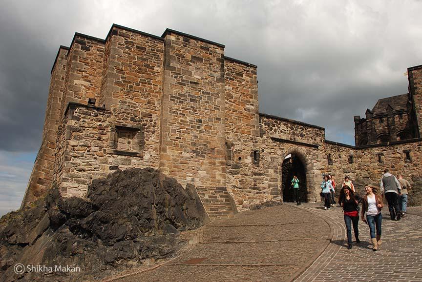 The Edinburgh Castle.
