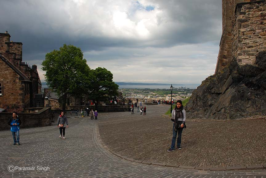 Climbing into the The Edinburgh Castle.