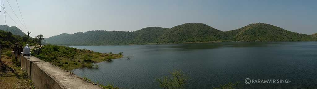 The view around Sajjangarh Wildlife Sanctuary.