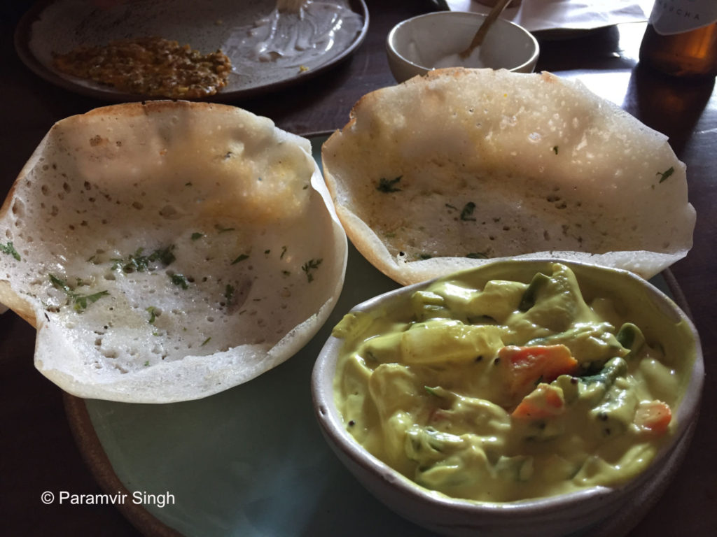Appams and Stew at Cafe Pondi in Pune