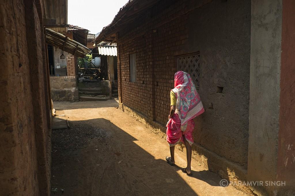 Woman in Walwande Village, Maharashtra