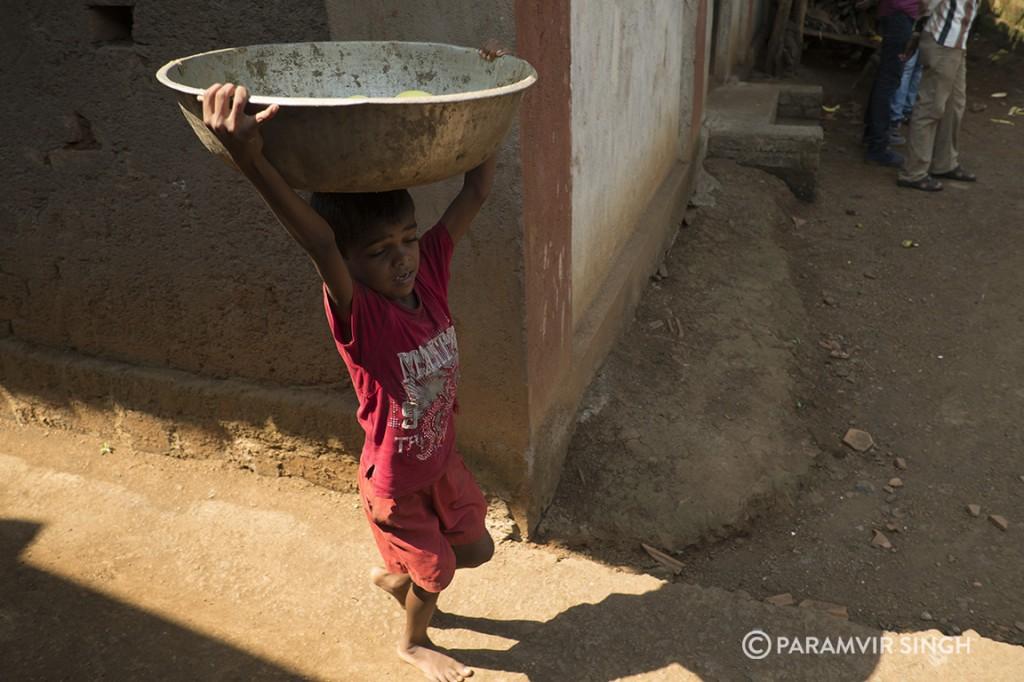 Child in Walwande Village, Maharashtra
