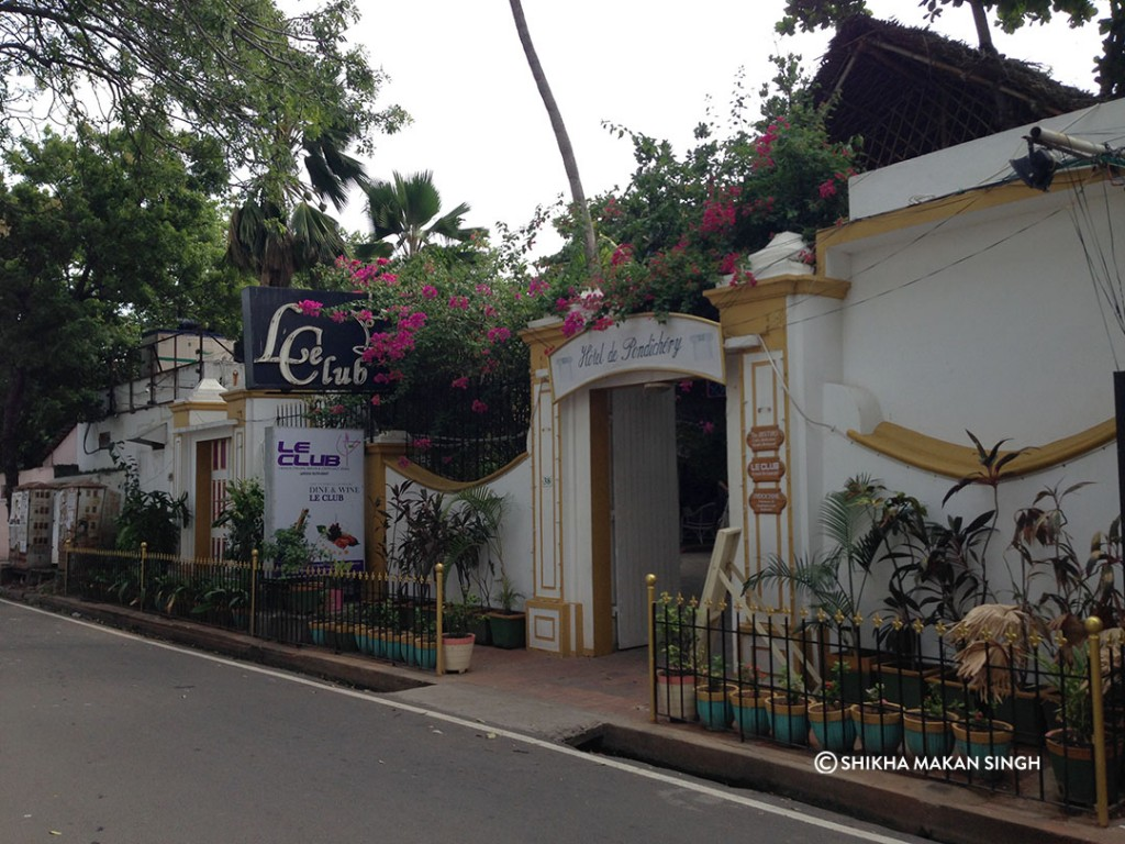 We stayed at the lovely Hotel De Pondicherry