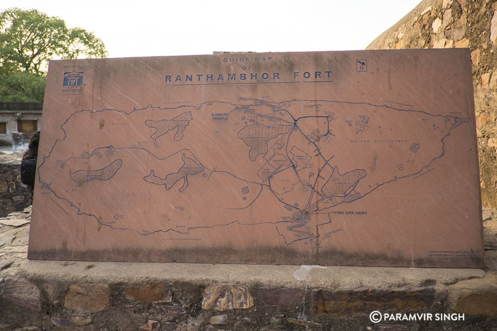 Guide Map of Ranthambhore Fort.