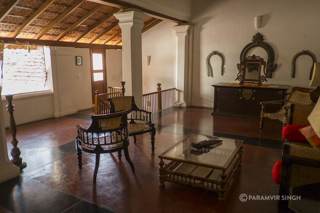 Neemrana Hotels in Tranquibar : First Floor Landing at The Gatehouse