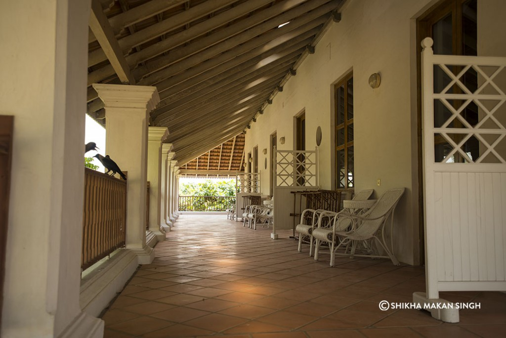 Neemrana Hotels in Tranquibar : Balcony at  Bungalow On The Beach
