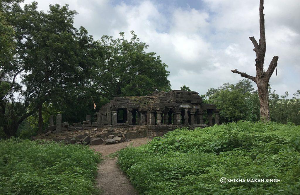Temple inside Lonar.