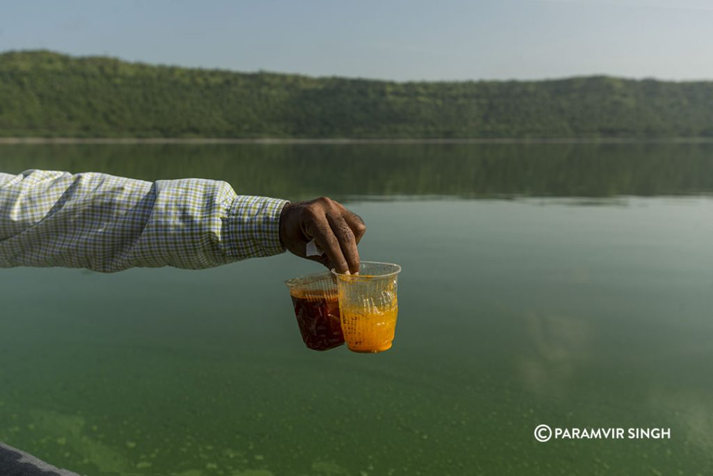 Alkaline waters of Lake Lonar