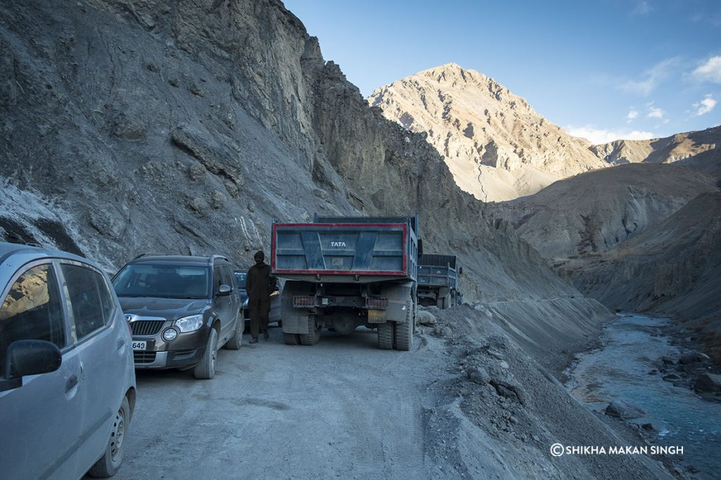 Landslide on the Road to Kaza, Himachal Pradesh