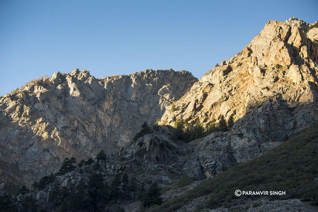 Barren peaks