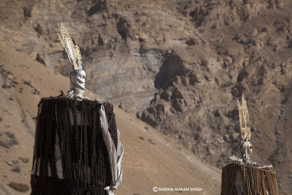 Scarecrows at Key Monastery, Spiti Valley, India