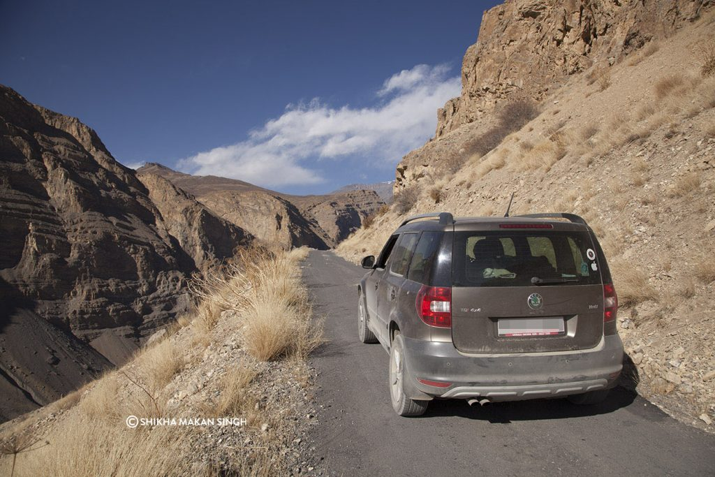 On the road, Spiti Valley, Himachal Pradesh India