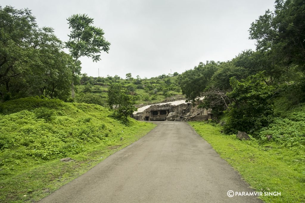 Approach to Ellora Caves, India
