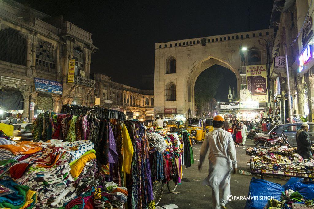 Charminar Market, Hyderabad.