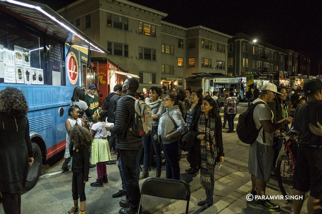 Food Trucks outside New Parkway Theatre, Oakland.