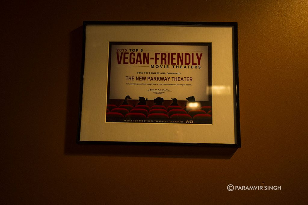 Vegan Friendly Cafe at New Parkway Theatre, Oakland, USA
