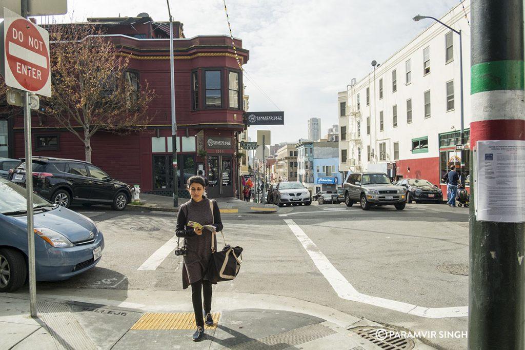 Walking in San Francisco.