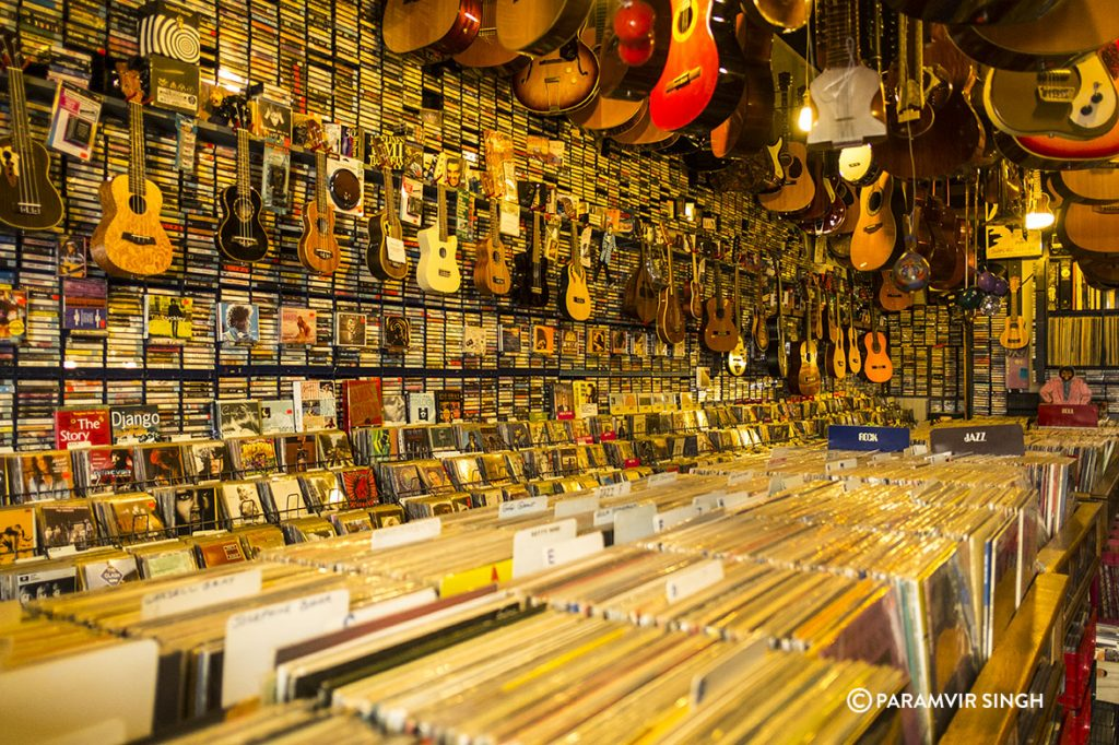 Music store, San Francisco.