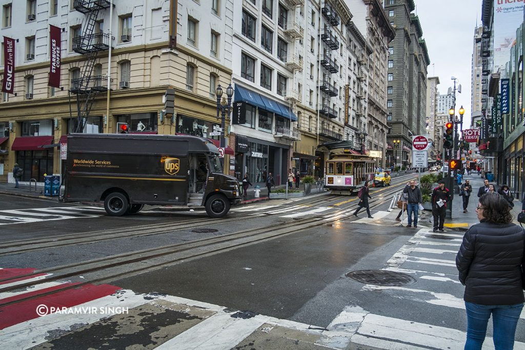 Wet Street, San Francisco