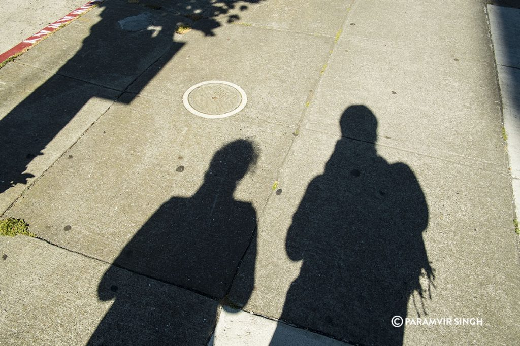 Shadow portrait, San Francisco.