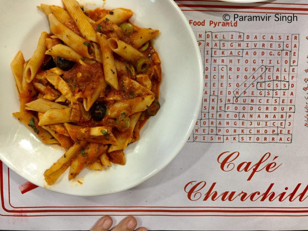 Pasta at Cafe Churchill