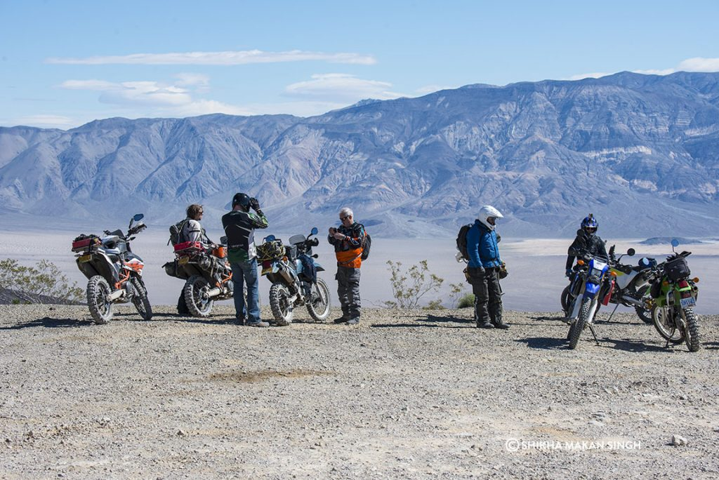Motorcyclists in Death Valley National Park