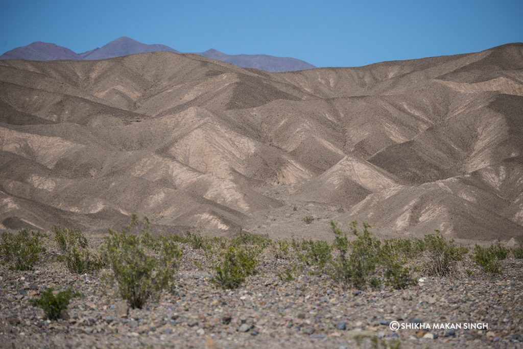 Sand Dune hills in Death Valley National Park