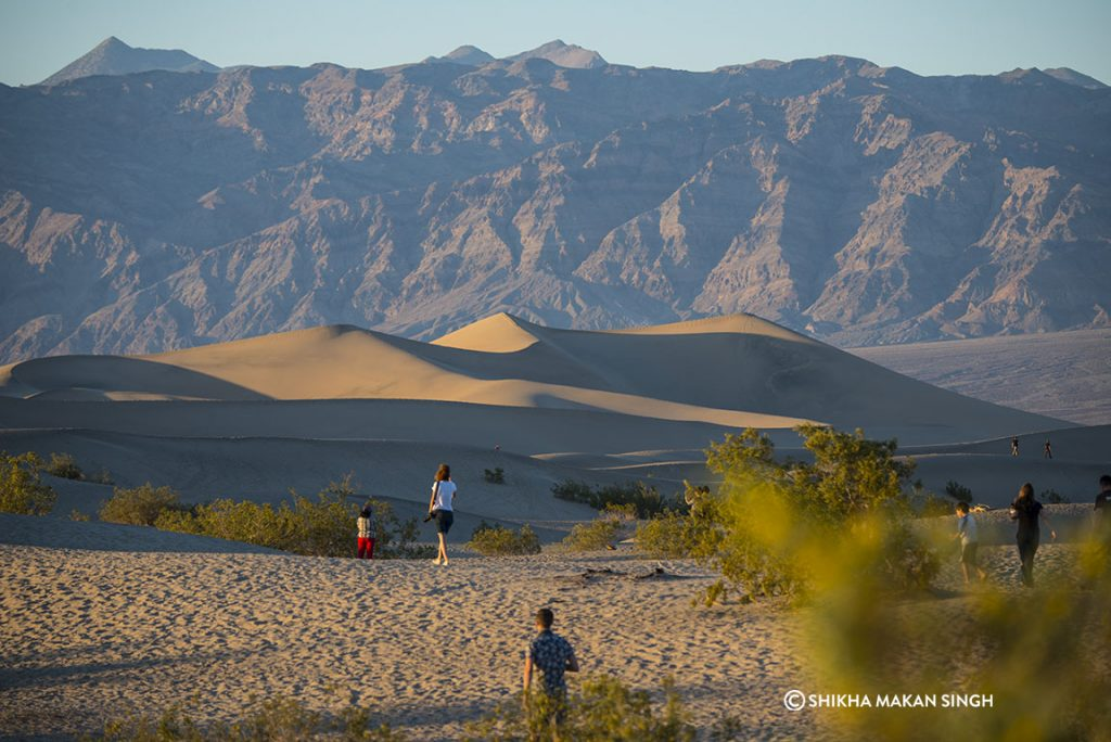 The Mesquite Flat sand dunes at Death Valley National Park
