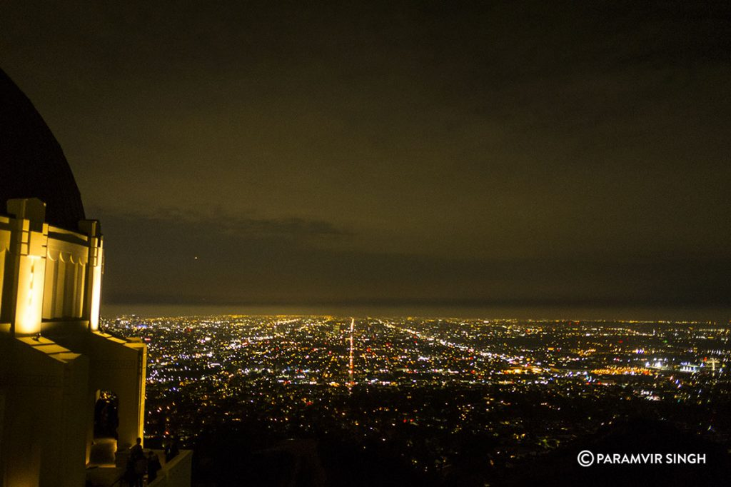 View of Los Angeles at night from Griffith Observatory