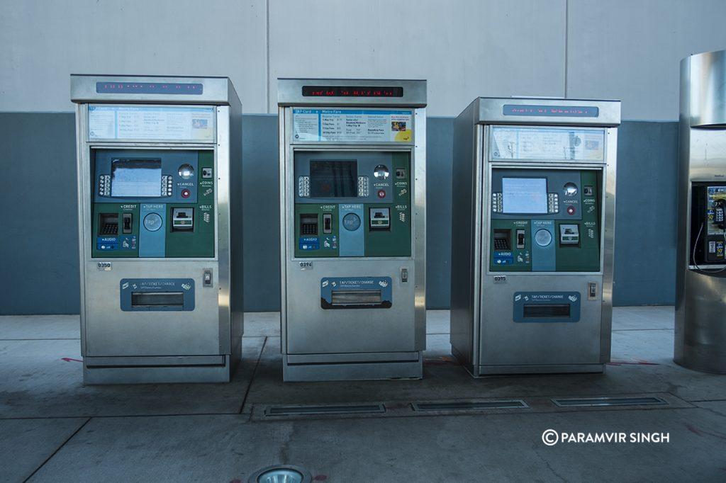 Los Angeles Metro ticket vending machines