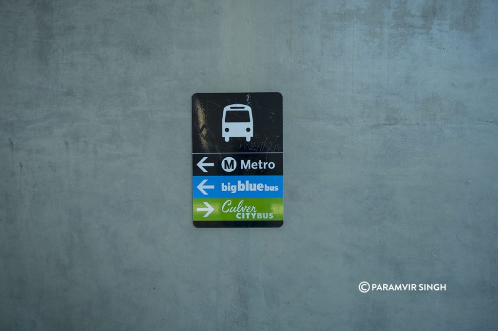Public Transport options in Los Angeles.