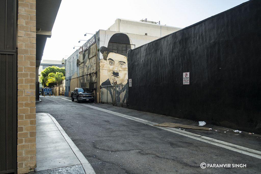 Charlie Chaplin graffiti in Los Angeles.