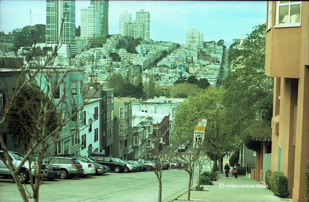 San Francisco on analogue film