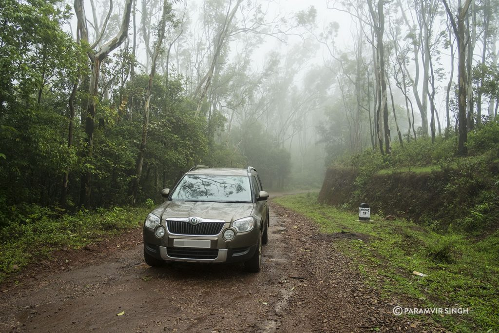 Skoda Yeti near Bhadra Wildlife Sanctuary