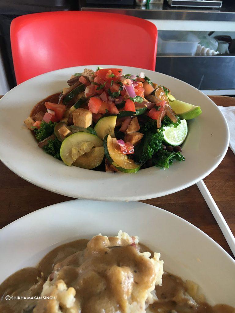 Flore Vegan Restaurant food in Los Angeles