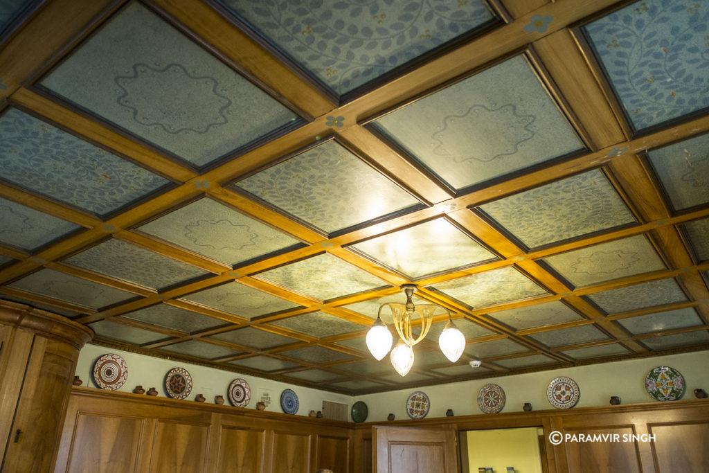 Ceiling at the Guesthaus Zum Kreuz.